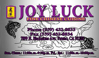 Joy Luck Fine Chinese Cuisine- Front
